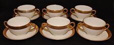 Limoges, L. Bernardaud & Co., Higgins & Seiter, Set of 6 Bouillon Cup & Saucer