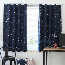 Luxury Thermal Blackout Window Curtain Star Panel Gromment Drape Kid Room Home