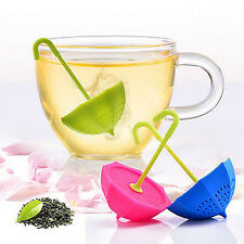 Spice Silicone Filter Diffuser Tea Infuser Strainer Umbrella Loose Leaf Herbal