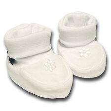 pantau.eu Babyschuhe Erstlingsschuhe Taufschuhe Weiß mit kleiner Blume
