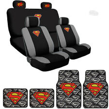 New Extreme Superman Car Seat Cover Mat with POW Headrest Cover For Jeep