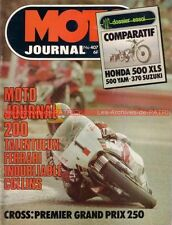 MOTO JOURNAL  407 Road Test HONDA XLS 500 XT YAMAHA SUZUKI SP 370 ER 125 MJ 200
