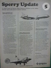 10/1978 PUB SPERRY FLIGHT SYSTEMS UPDATE 5 PQM-102 A DELTA DAGGER KC-10A AD