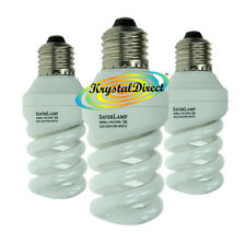 3x Energy Saver Lamp Spiral 11W Standard Screw ES E27 Bulb