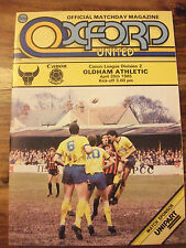 OXFORD UNITED V HEREFORD League Cup R1 MATCH programma 1984 - 1985 Stagione
