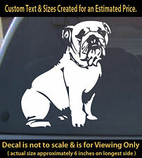 Bulldog dog decal 6 inch car truck home laptop outdoor sticker pet lover canine