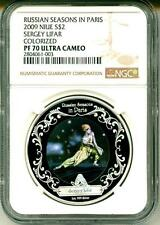 2009 S$2 Niue Russian Seasons In Paris Sergey Lifar Color NGC PF70 Ultra Cameo