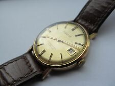 Vintage 9ct gold mens Accurist wrist watch