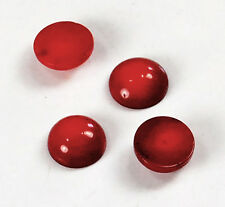 12x12x5mm Red Coral Round Cabochon Beads 4pcs(DPD99)a