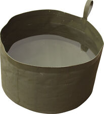 NEW - FOLDING WASH / WATER BOWL/ PET BOWL - OLIVE - COMPACT -  KOMBAT UK - PVC