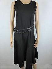 T2 DECA PARIS Robe Longue Femme Sans Manches Noire Ceinture - Tri d'Union