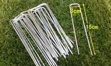 50 xArtificial Grass Turf U Pins Galvanised Metal Pegs Mesh Mat Staples
