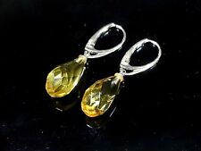 Natural genuine Baltic amber earrings, sterling silver  EFS004