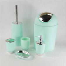4pcs Bathroom Accessory Set Soap Dish Dispenser Tumbler Toothbrush Holder US