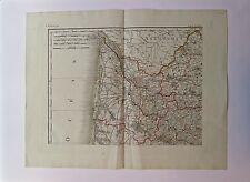 Gravure, Carte des environs de Bordeaux, Cartographe inconnu, XVIIIè
