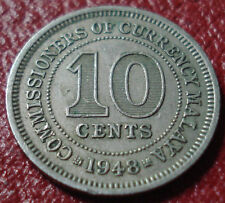 1948 MALAYA 10 CENTS IN VF CONDITION