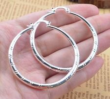 Women Fashion 925 Sterling Silver Stud Hoop Dangle Earring Wedding Jewelry New