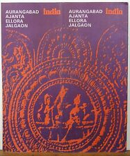 1977 India Aurangabad Ajanta Ellora Jalgaon vintage travel map & brochure b