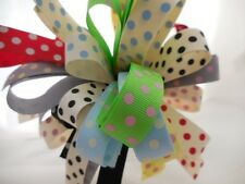 15MM SPOTTY GROSGRAIN RIBBON BUNDLE 8 X 1MTR BY BERISFORDS