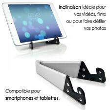 Support Universel Pliable de poche blanc pour Smartphone Tablette Tactile