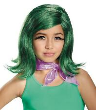 GIRLS DISNEY PIXAR INSIDE OUT DISGUST WIG SCARF EYELASHE SCOSTUME KIT DG86958
