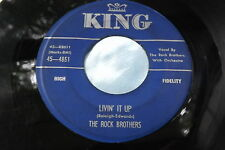 RARE Rockabilly Early Rock 45: The Rock Brothers ~ Dungaree Doll  ~ Livin' It Up