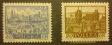 POLAND STAMPS MNH Fi1084-85 Sc952a,954 Mi1228-29 - Polish Towns - 1961, clean