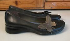 Clarks Indigo Black Leather SHOES  Cute Butterfly Woman's 7 M