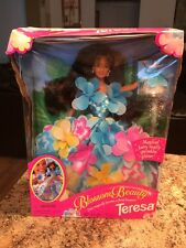 Teresa Blossom Beauty Barbie Doll Floral Bouquet Dress 1996 Gorgeous