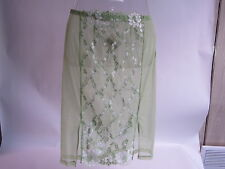 La Perla Half Slip Petticoat Green With Lace Detail Size 12 0008197 #11R223