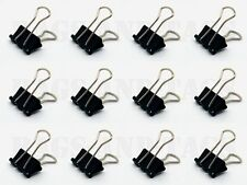 50 X 19mm Acero Negro Papel Clips Foldback oficina documento Bulldog De Metal