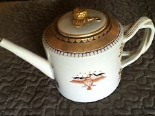 MOTTAHEDEH DESIGN 18TH C. CHINESE EXPORT AMERICAN EAGLE/FLAG TEAPOT.