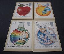 1987 300th aniversario de la principa Mathematica PHQ tarjetas PHQ 100-como Nuevo-Juego de 4