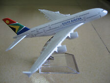 New SOUTH AFRICAN AIRBUS A380 Passenger Airplane Plane Metal Diecast Model C