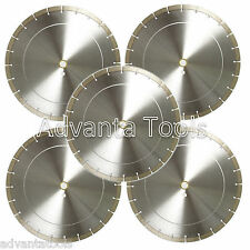 "5PK 14"" Diamond Saw Blades for Brick Block Concrete Masonry Pavers Stone - 12MM"