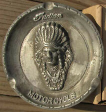 RARE INDIAN MOTORCYCLE ADVERTISING ASHTRAY NICE L@@K #837