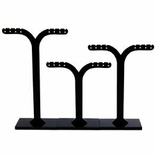 3 X Display Support displaying earrings detachable black and in Acrylic. T1