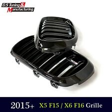 For BMW X5 F15  X6 F16 Gloss Black  Dual Slat M Look Front  GRILLE