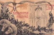 A7673) TORINO, ARTIGLIERIA, REGIA ACCADEMIA MILITARE 3 CORSO 1906. VIAGGIATA.