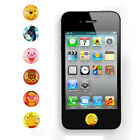 6pcs Home Button Bear the Pooh Sticker GS for Apple iPhone 5 4S 4S 3GS 3G iTouch