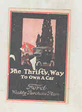 1924 Ford Model T Weekly Purchase Plan Mailer Brochure wu1264