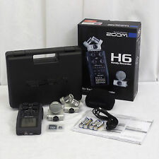 Zoom H6 Handy 6-Track Digital Recorder Portable Handheld X/Y and Side Mic MINT