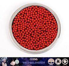 COIN COINS MÜNZEN Perle/Glitter Rot 33mm kompatibel mit Quoins Moneda