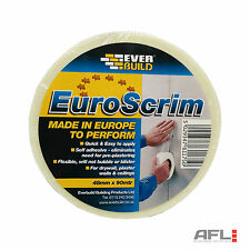 "Euroscrim Self Adhesive Plasterboard Scrim Jointing Repair Tape 48mm(2"") x 90m"