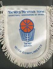 ISRAEL BASKETBALL FEDERATION SMALL PENNANT #1 14x15cm