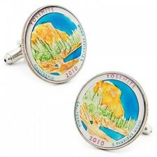 Yosemite National Park Handpainted Quarter Coin CUFFLINKS by PennyBlack-50% off