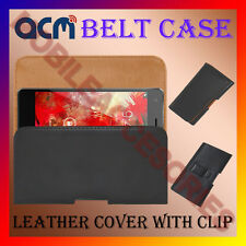 ACM-BELT HOLSTER LEATHER COVER CASE for SPICE XLIFE 435Q MOBILE CLIP