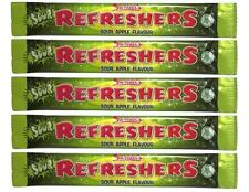 5 x Swizzels Refreshers Sour Apple Flavour Chew Bars - Free Shipping in UK
