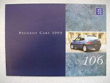 Peugeot 106 brochure 1993 - XSi, XT,XR,XN,XRD,XN Graduate