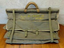 Vintage LT. USMCR Leather Canvas Korean Garment Officers Travel Gear Luggage Bag